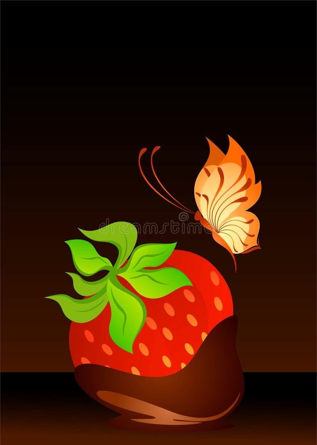 Schöne saftige Erdbeere stock abbildung