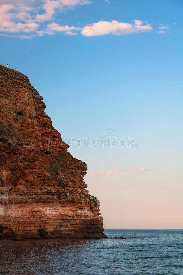 Schöne Sandsteine in der Nähe des Strandes von Bolata Schwarzes Meer, Bulgarien stockfotografie