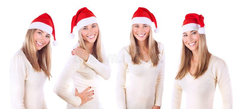 Schöne Sankt-Frauencollage stockbild