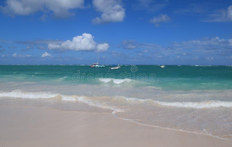 Schöne Saona-Insel stockbild