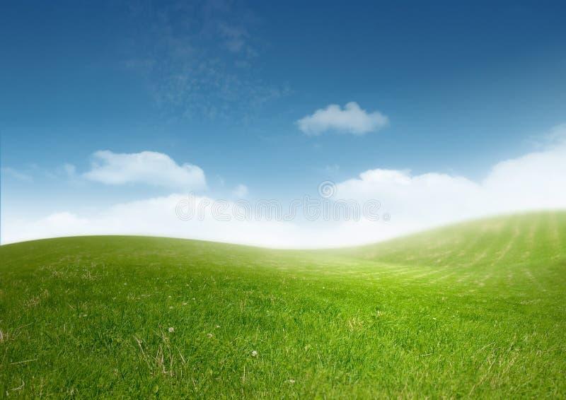 Schöne saubere Landschaft stockbilder