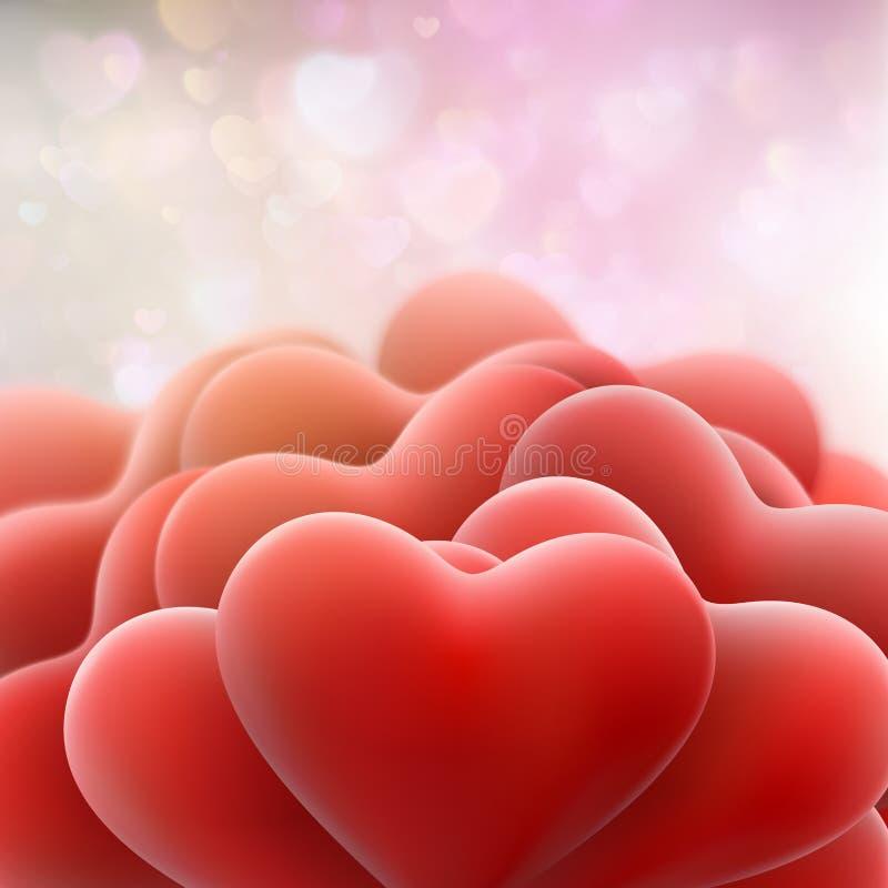 Schöne Schablone Valentine Days ENV 10 lizenzfreie abbildung