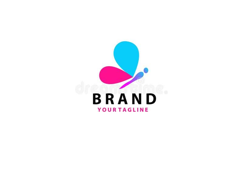 Schöne Schmetterlings-Logo Template-Illustration Zusammenfassungsfarb-crative Entwurfsschmetterling vektor abbildung
