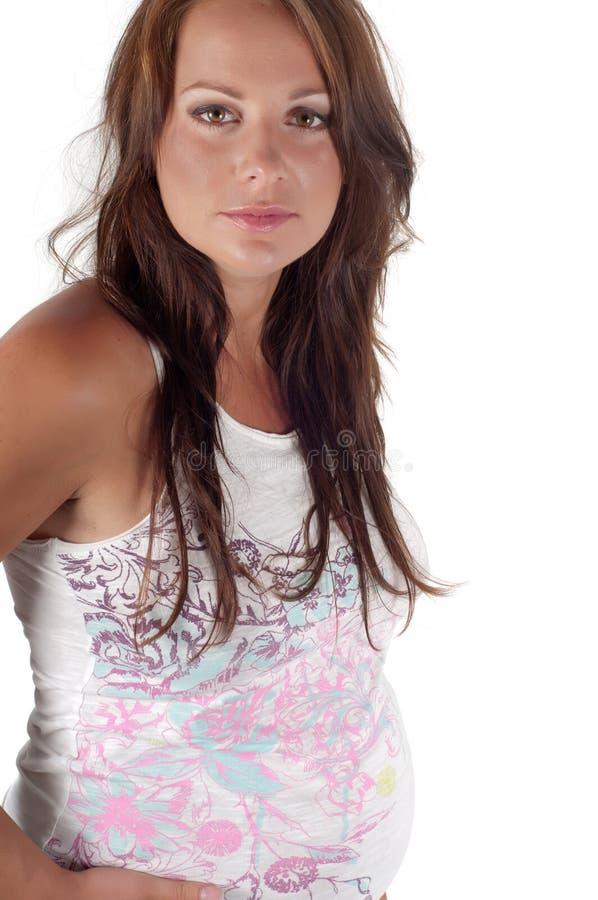 Schöne schwangere Frau lizenzfreie stockbilder