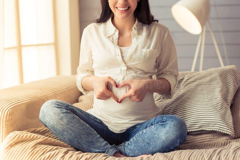 Schöne schwangere Frau lizenzfreie stockfotografie