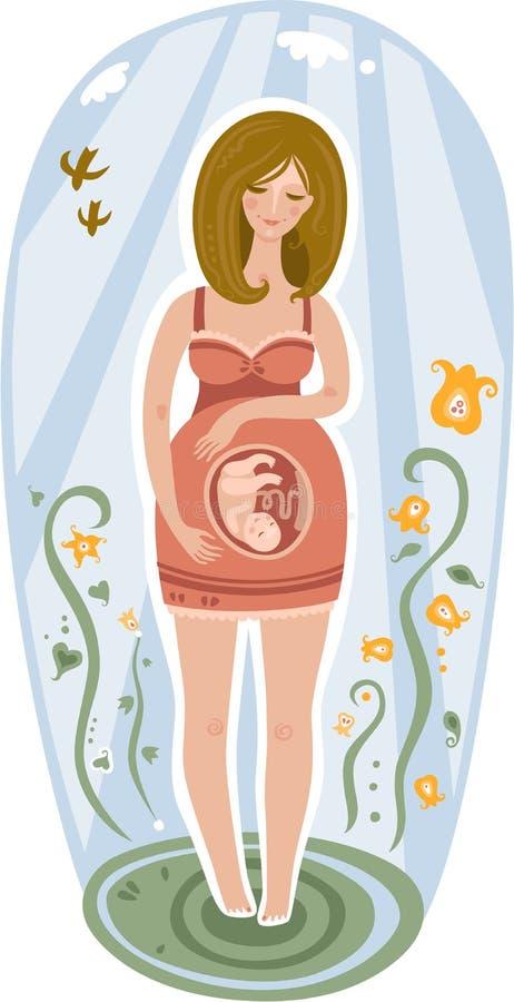 Schwangere Frau lizenzfreie abbildung