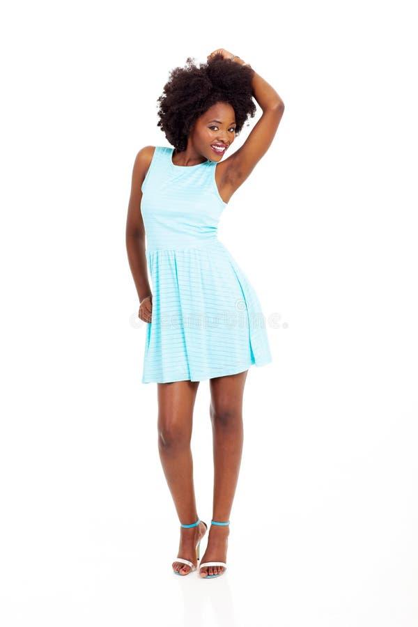 Schöne schwarze Frau stockfotografie
