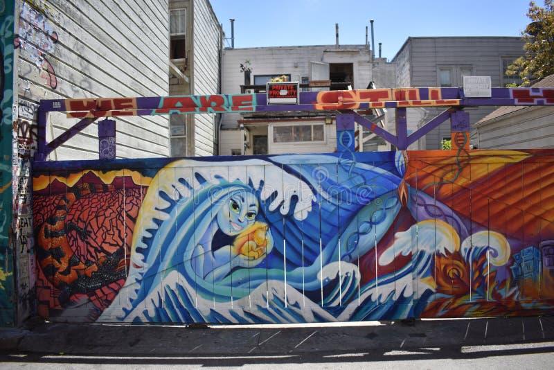 Schöne sehr kreative Wandgemälde der Fanfaren-Gasse sehr, 43 lizenzfreie stockfotos