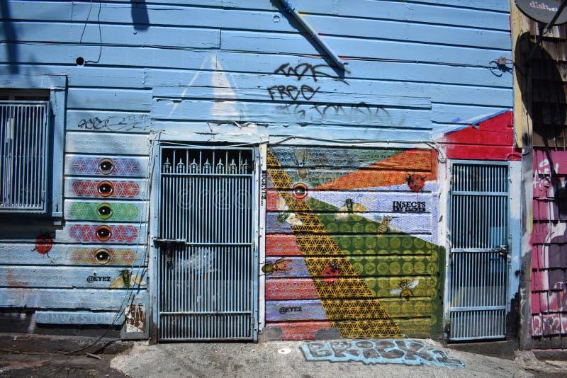 Schöne sehr kreative Wandgemälde der Fanfaren-Gasse sehr, 52 lizenzfreie stockfotos