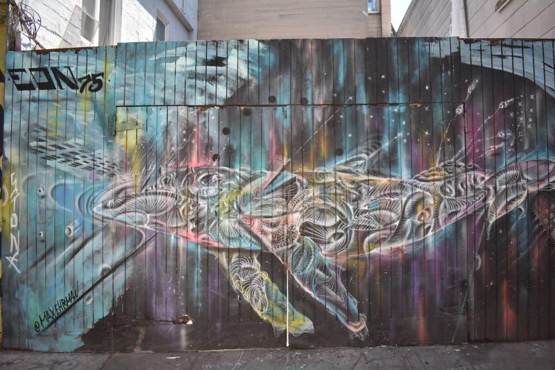Schöne sehr kreative Wandgemälde der Fanfaren-Gasse sehr, 53 stockbild