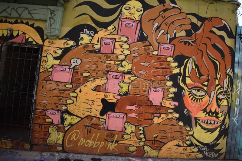 Schöne sehr kreative Wandgemälde der Fanfaren-Gasse sehr, 54 lizenzfreie stockbilder