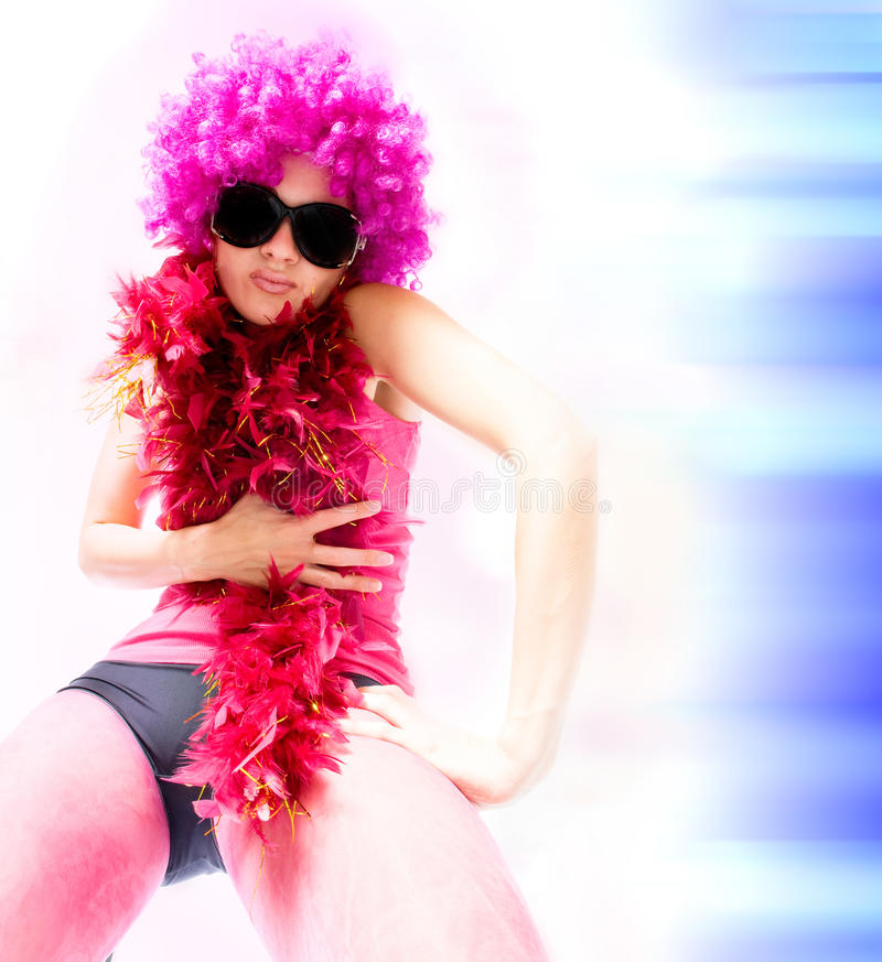 Schöne sexuelle Frau. Tanzart stockfotografie