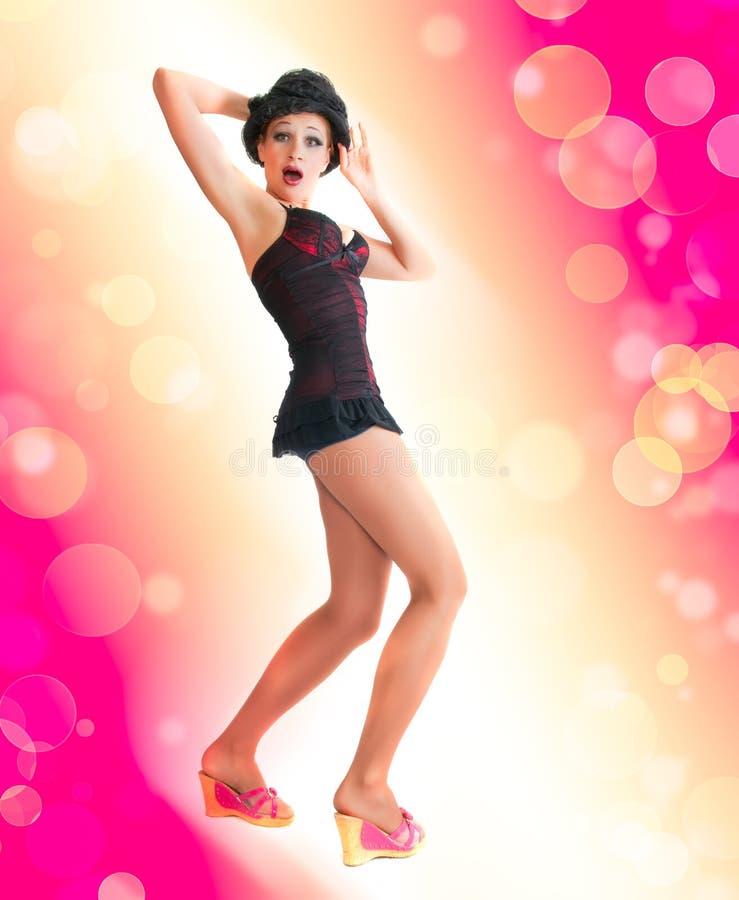 Schöne sexuelle Frau. Tanzart stockbilder