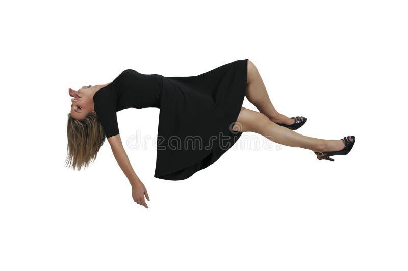Schöne sich hin- und herbewegende Frau stockfotos
