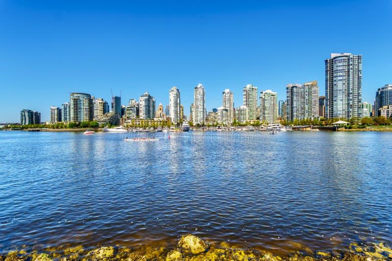 Schöne Skylineansicht von Vancouver, Canad stockbild