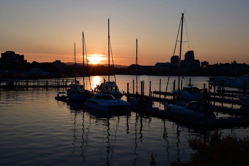 Schöne Sonnenuntergangansicht von James Bay stockfotografie
