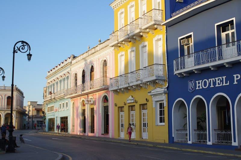 Schöne spanische Kolonialbauten stockbild