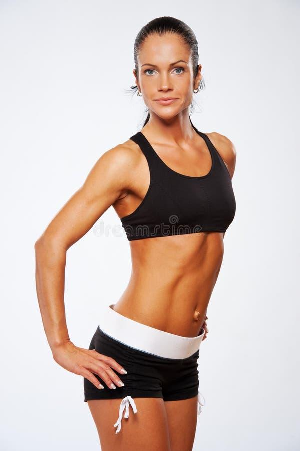 Schöne sportliche Frau lizenzfreies stockfoto