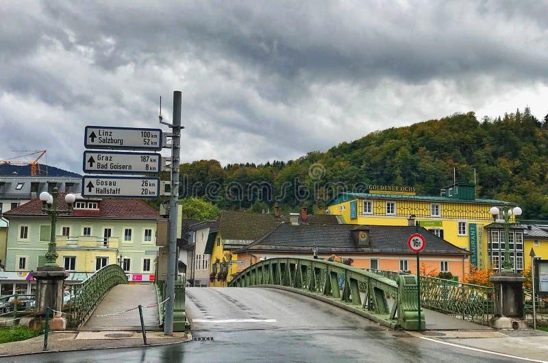 Schöne Stadt von schlechtem Ischl in Österreich stockfoto
