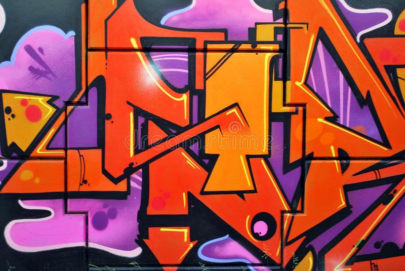 Schöne Straßenkunstgraffiti stockbilder