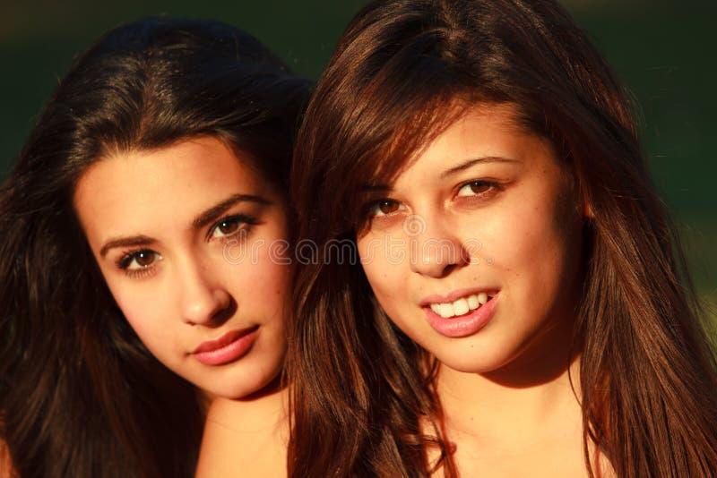 Schöne Studentinnen stockbilder