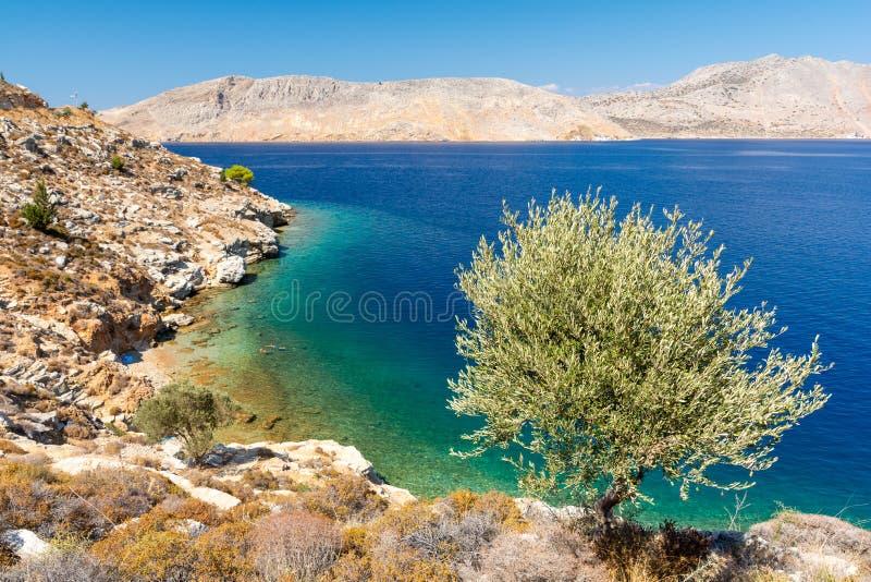 Schöne Symi-Insel, Dodecanese, Griechenland stockbild