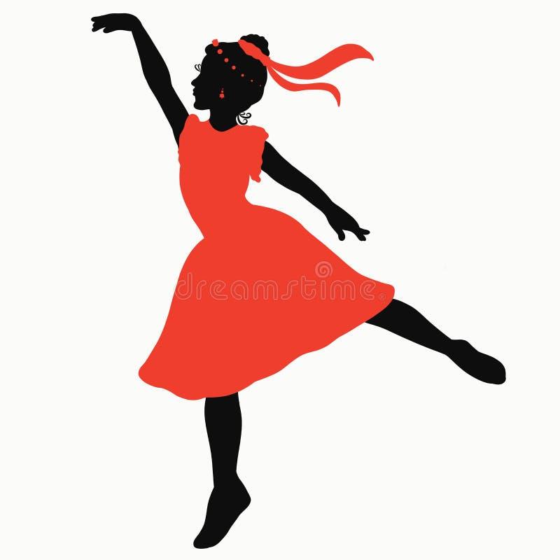 Schöne Tänzerin, junge Ballerina in einem hellen Kleid stock abbildung