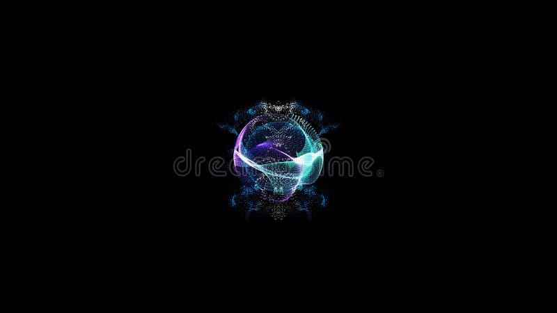 Schöne und bunte Spirale 3D Erdzusammenfassungsillustration stock abbildung