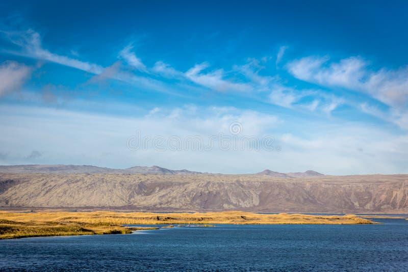 Schöne und surreale Landschaft in Island stockfotografie