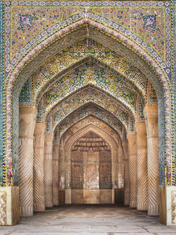 Schöne Vakil-Moschee, Shiraz, der Iran stockbilder