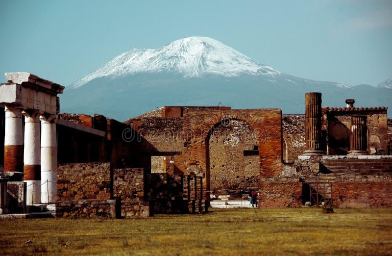 Schöne vesuvio Ansicht von Pompeji lizenzfreies stockbild