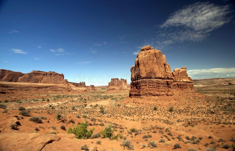 Schöne Wüsten-und Felsen-Anordnungen stockbild