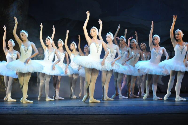 Schöne weibliche Tänzer im Ballett lizenzfreies stockfoto