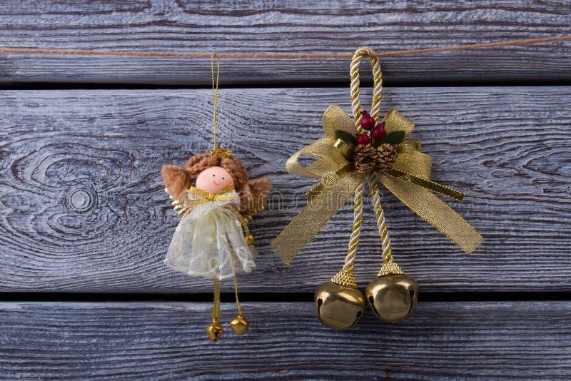 Schöne Weihnachtsdekorationen stockfotos