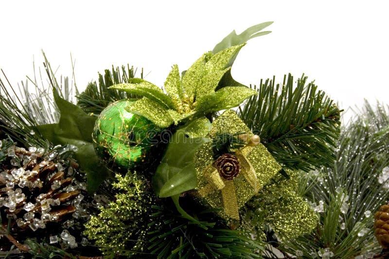 Schöne Weihnachtsverzierungen lizenzfreies stockbild