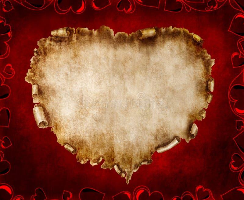 Schöne Weinlese-stilisiert Valentinsgruß-Karte lizenzfreie abbildung
