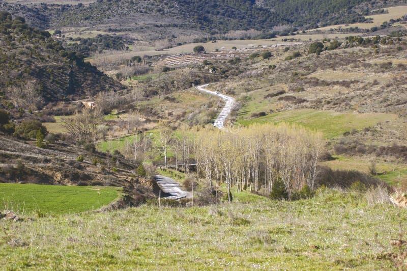 Schöne wilde Landschaft mit einigen Hügeln lizenzfreie stockbilder