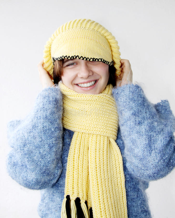 Schöne Winter-Frau 1 lizenzfreie stockfotos