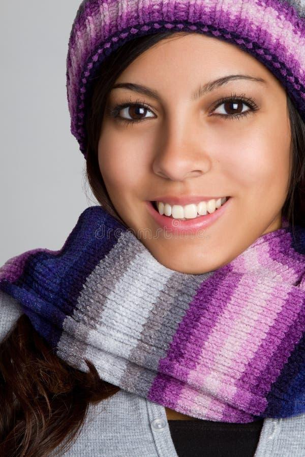 Schöne Winter-Frau stockfotos