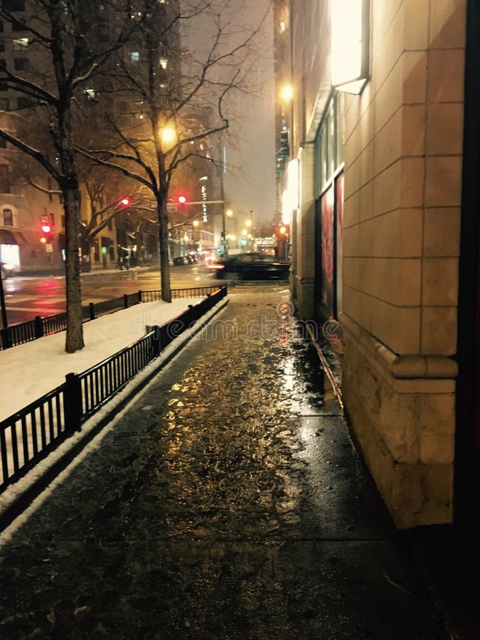 Schöne Winternacht stockfotos
