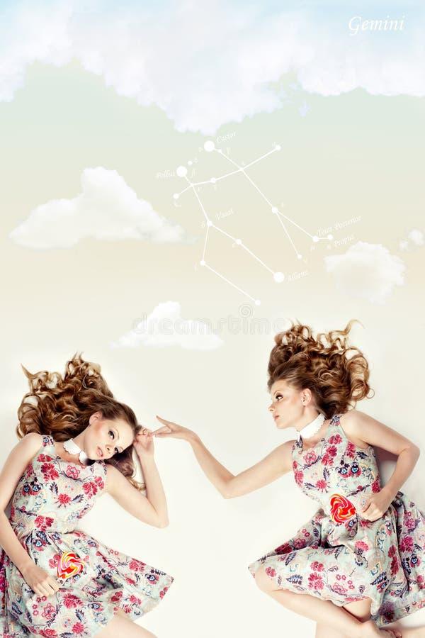 Download Schöne Zwillinge. Kreative Collage. Stockbild - Bild von harmonisch, sauber: 26361831