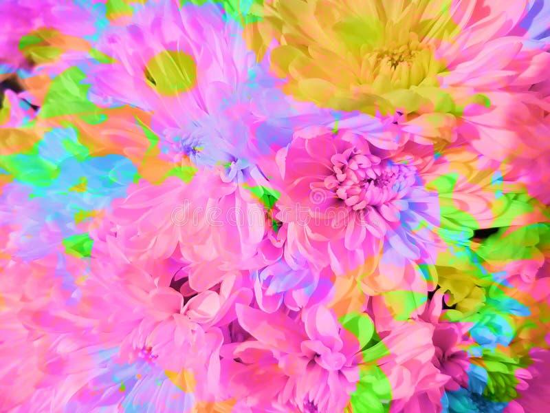 Schöner abstrakter Blumenblumenblatthintergrund vektor abbildung