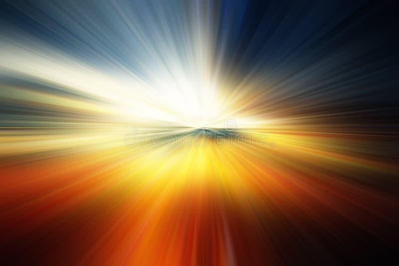 Schöner abstrakter Hintergrund in den blauen, grünen, gelben und orange Tönen lizenzfreie abbildung