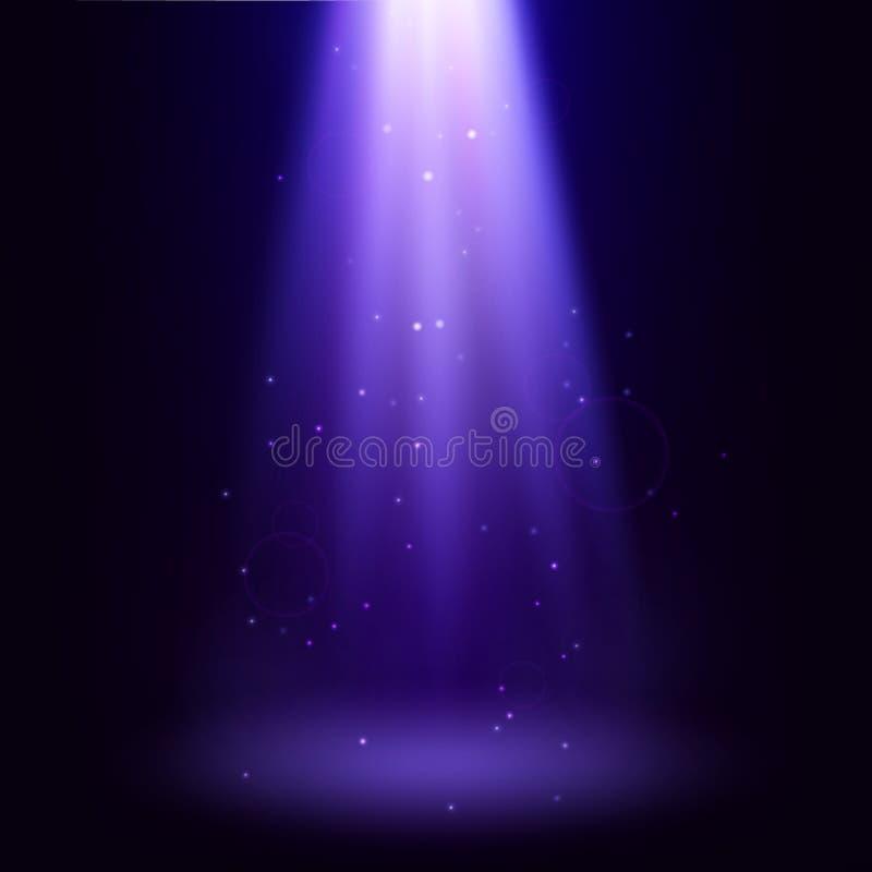 Schöner abstrakter Hintergrund Vertikaler Märchenstrahlnscheinwerfer Vektortapete lizenzfreie abbildung