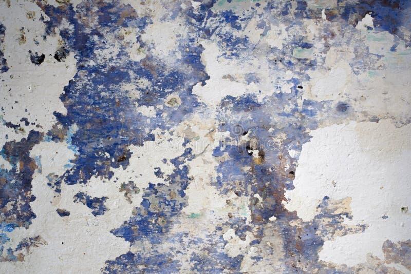 Schöner abstrakter Schmutz-dekorativer Marine-Blau-weißer Wand-Hintergrund stockfoto