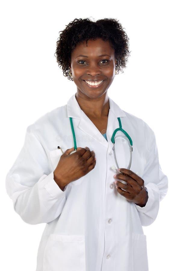 Schöner afrikanischer Frauendoktor lizenzfreie stockfotos
