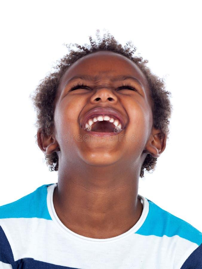 Schöner afroer-amerikanisch Junge stockfotografie