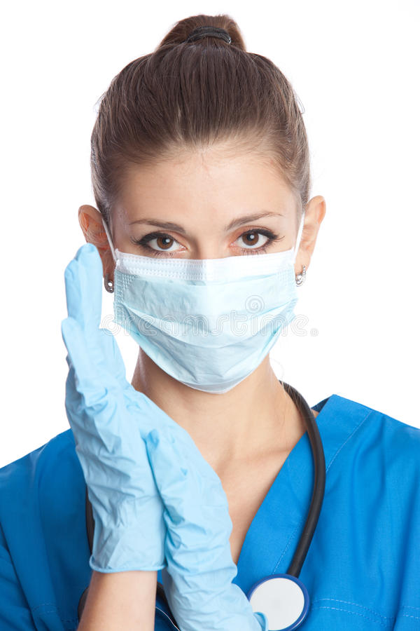 Schöner Arzt lizenzfreie stockbilder