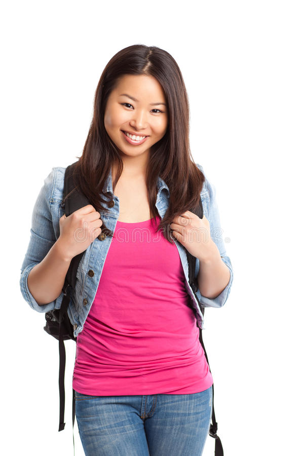 Schöner asiatischer Student stockfotos