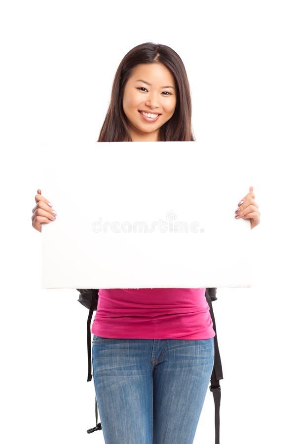Schöner asiatischer Student stockfoto